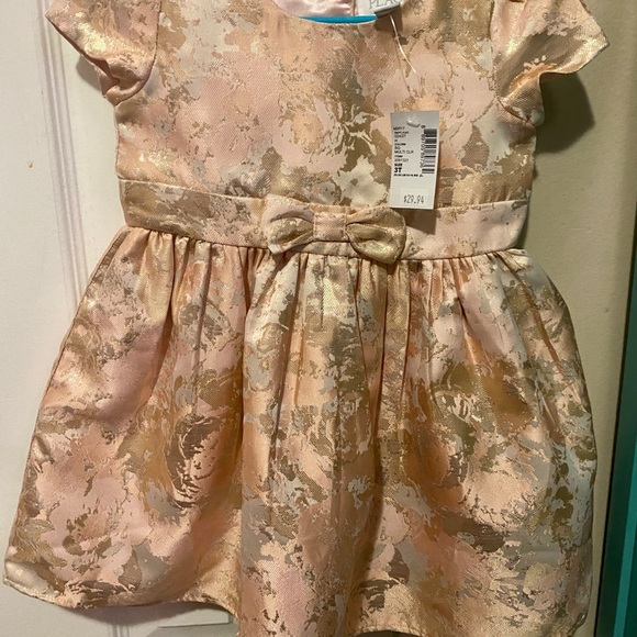 NWT! Beautiful Pink & Gold 3T Dress!